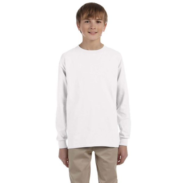 gildan_240b_6-0_oz_ultra_cotton_youth_long_sleeve_t-shirt
